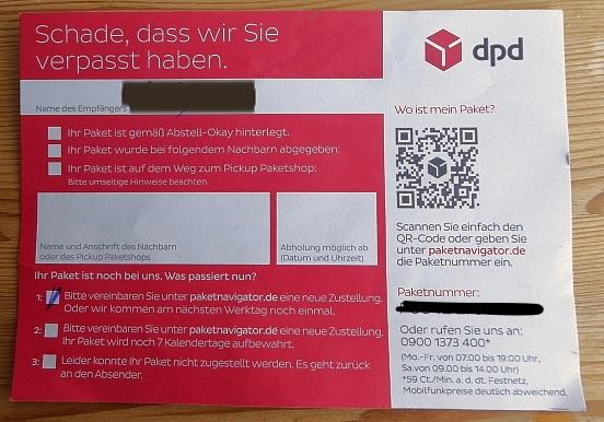 DPD Paketverfolgung - DPD war da
