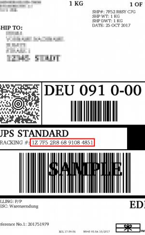 UPS Tracking Nummer